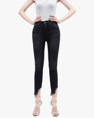Hình ảnh quần Jean nữ rách gau hiệu AAA Jean