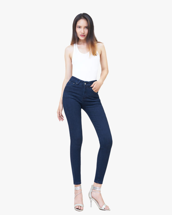 Hình ảnh sản phẩm Quần Jean nữ lưng cao Hiệu AAAJean màu xanh đen