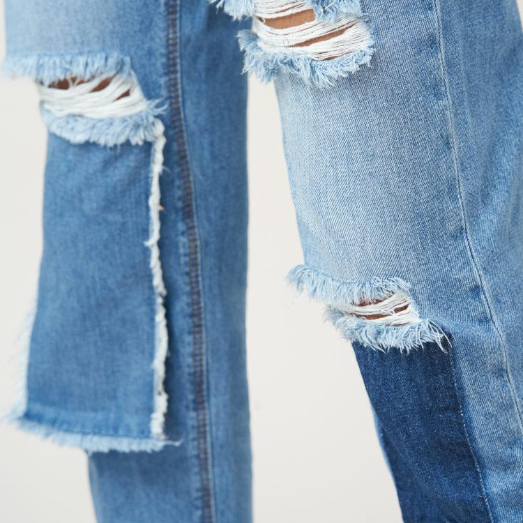 Hình ảnh sản phẩm quần Jean nữ boyfriend Hiệu AAA Jean rách gối