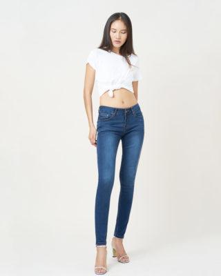 Hình ảnh sản phẩm quần jean lưng vừa skinny hiệu aaa