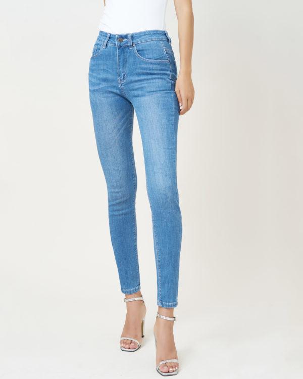 Hình ảnh sản phẩm quần Jean Nữ Hiệu AAA xanh biển trơn