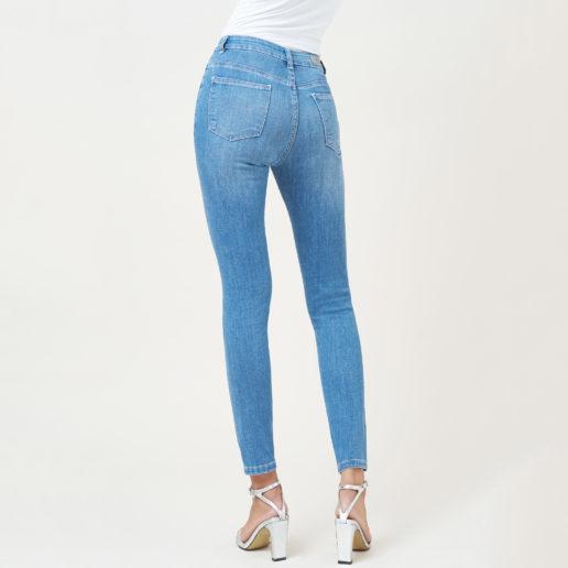 Hình ảnh Sản phẩm quần Jean Nữ Hiệu aaa jeans màu xanh biển chụp góc phía sau