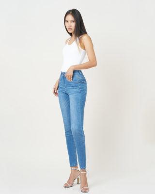 Hình ảnh Sản phẩm quần jeans màu xanh biển
