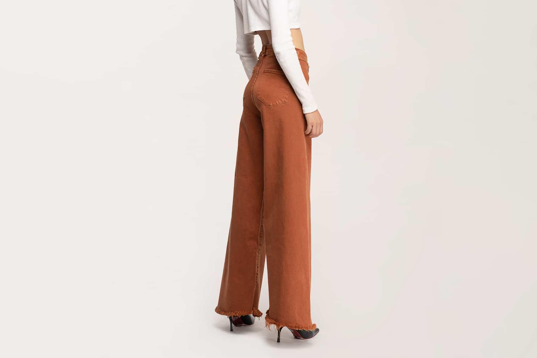 quần jean nữ ống rộng