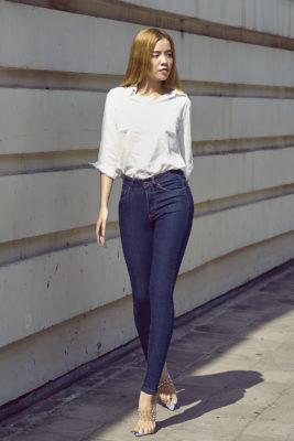 Quần jean pha sợi cà phê của Aaa Jeans