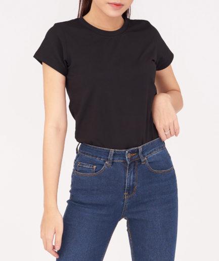 Áo thun nữ màu đen Aaa Jeans