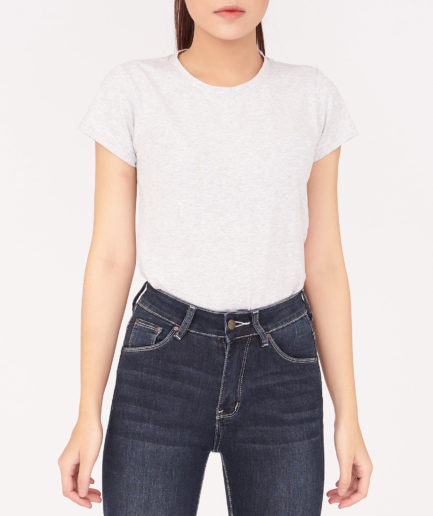 Áo thun nữ màu xám Aaa Jeans