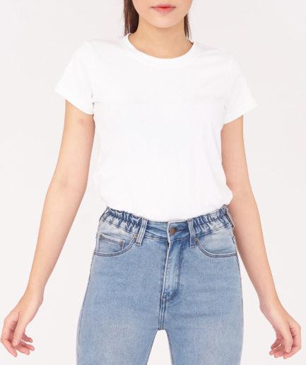 áo thun nữ mau trắng ngắn tay