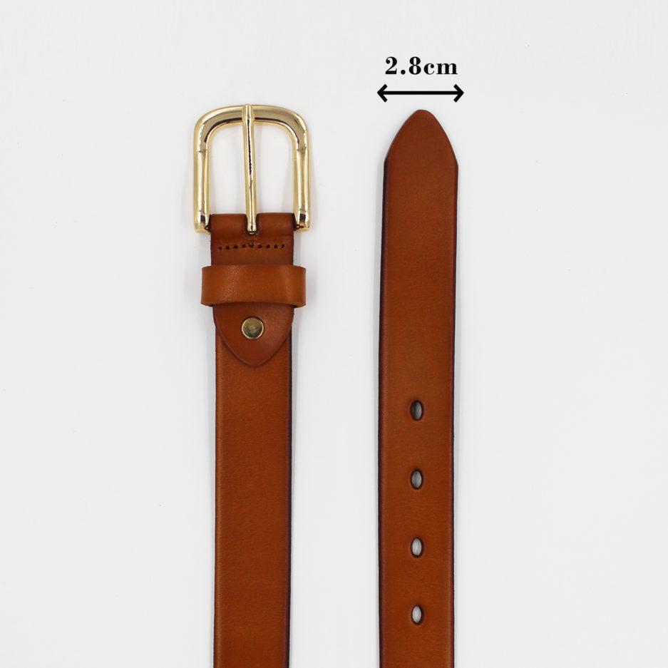 That lung da that full grain leather khoa classic vang ban 2.8cm