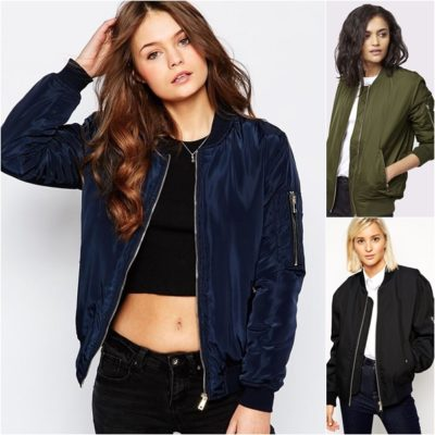 Áo Bomber kết hợp với áo thun và quần Jean